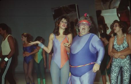 Em 1984, na sua estreia na TV, a atriz participou do quadro 'Vamos Malhar?', como Carola, que junto com Ciça (Jô Soares) era aluna de uma turma de ginástica Divulgação/Adir Mera