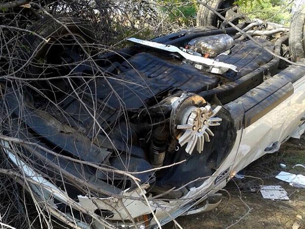 Segundo perito do Itep, as rodas do veículo quebraram por causa de uma possível pane no sistema de freios, que teria causado um travamento. (Foto: Divulgação/Itep)
