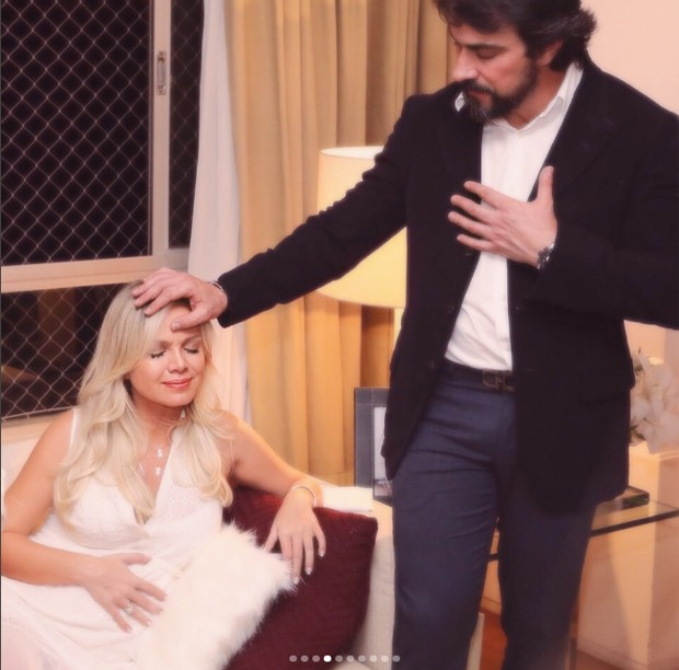 Eliana e padre Fábio de Melo (Foto: Manuela Scarpa/Brazil News)