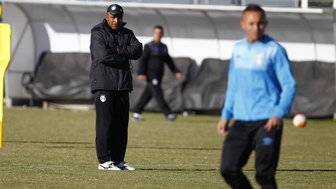 Grêmio, técnico, Roger Machado, treino (Foto: Lucas Uebel/Grêmio/Divulgação)