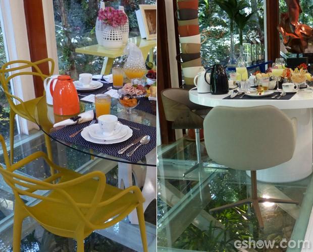 Mesa do café antes e depois (Foto: Mais Você / TV Globo)