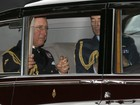 Família real chega para o batizado do filho de William e Kate Middleton