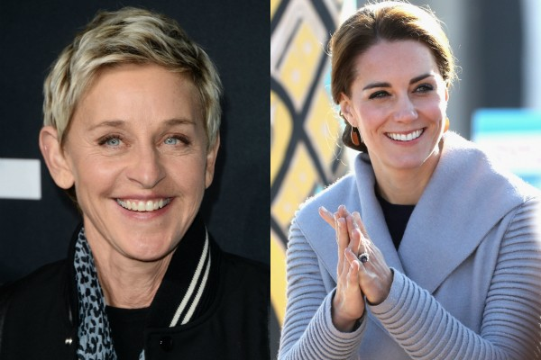 Ellen Degeneres e Kate Middleton (Foto: Getty Images)