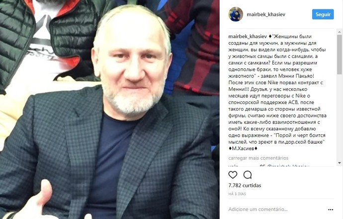 Mairbek Khasiev instagram (Foto: Reprodução/Instagram)