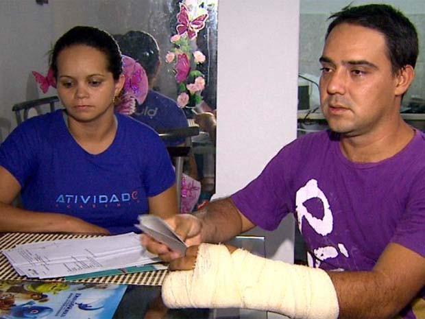 Rapaz passeava com a noiva na 'prainha' de Sertãozinho quando foi agredido (Foto: Valdinei Malaguti/ EPTV)