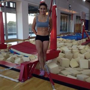 Jade Barbosa no treino em Barcelona (Foto: Reprodução / Instagram )