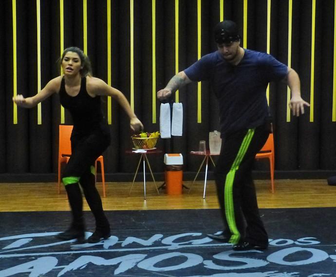Bruno Boncini dança com Ana Paula Guedes (Foto: Tatiana Helich / Gshow)