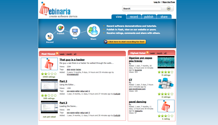 Webinaria, software para gravação ( (Foto: Reprodução/André Sugai)