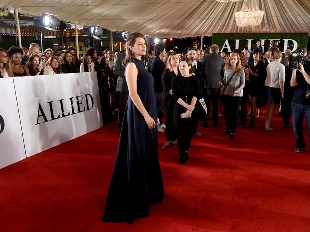 Marion Cotillard em première de filme em Los Angeles, nos Estados Unidos (Foto: Kevin Winter/ Getty Images/ AFP)