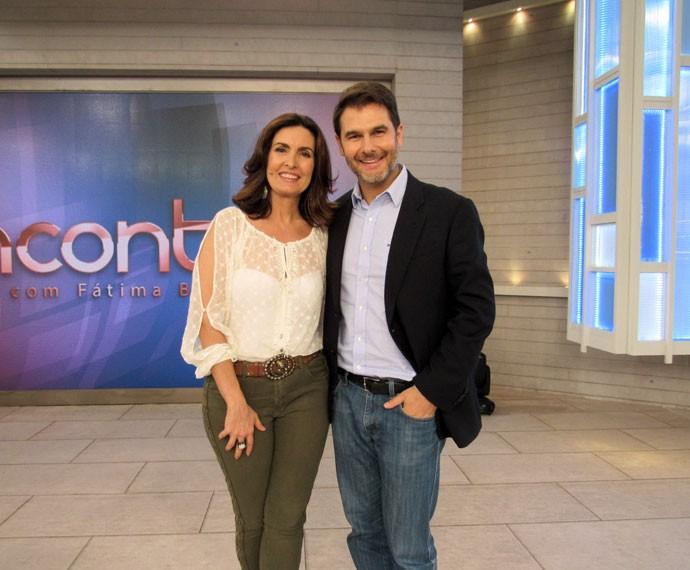 Fátima com o parceiro, o Dr. Fernando Gomes Pinto  (Foto: Carolina Morgado/Gshow)