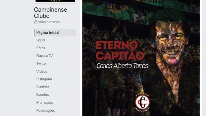 carlos alberto torres, campinense (Foto: Reprodução / Facebook)
