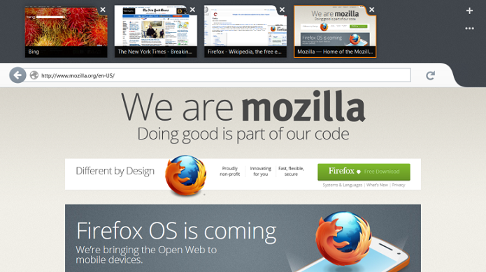 Firefox com interface Metro será abandonado pela Mozilla (Foto: Divulgação/Fundação Mozilla)