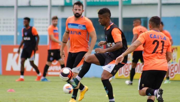 Hayner e Leandro Cearense treino paysandu (Foto: Fernando Torres/Ascom Paysandu)