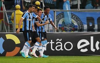 """Grêmio vibra com vitória """"boa"""", mas lamenta gol sofrido: """"Podia ser melhor"""""""