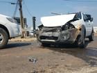 Acidente em cruzamento na marginal da BR não deixa feridos em Ji-Paraná