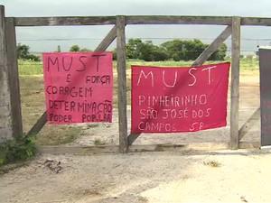 Ato relembra três anos de desocupação do Pinheirinho em São José (Foto: Reprodução/ TV Vanguarda)