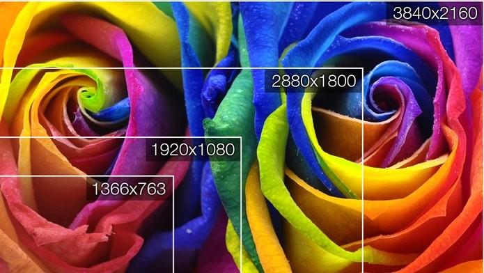 Diferença em pixels entre HD e UltraHD (Foto: Divulgação / Semp Toshiba)