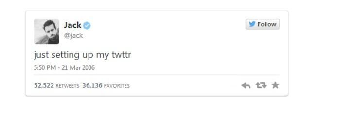 Destaque no Twitter com os primeiros posts em 2006 (Foto: Reprodução/Twitter)