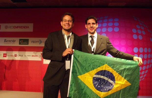 Thierry Marcondes e Wellington de Souza Filho, CTO da Lux Sensor e estudante de engenharia eletrica na Unicamp (Foto: Divulgação)