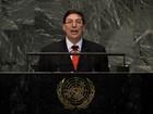 Chanceler de Cuba denuncia na ONU 'terrorismo de Estado' dos EUA