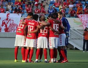 América-RN - jogadores reunidos (Foto: Diego Simonetti/Blog do Major)