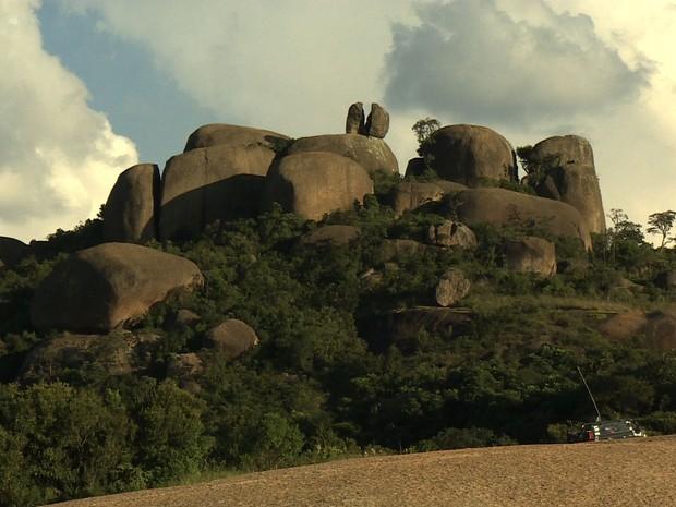 Pedra Grande em Atibaia (Foto: Reprodução/TV Vanguarda)