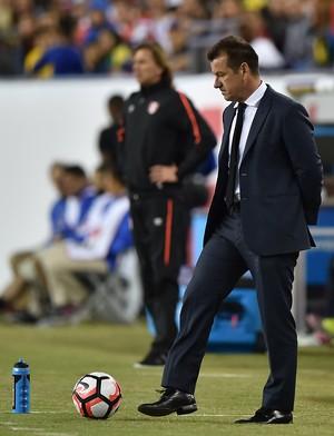 Dunga Brasil x Peru (Foto: AFP)