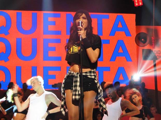 A preparada Anitta (Foto: Esquenta/TV Globo)