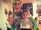 Luana Piovani mostra look para festa junina com o filho Bem