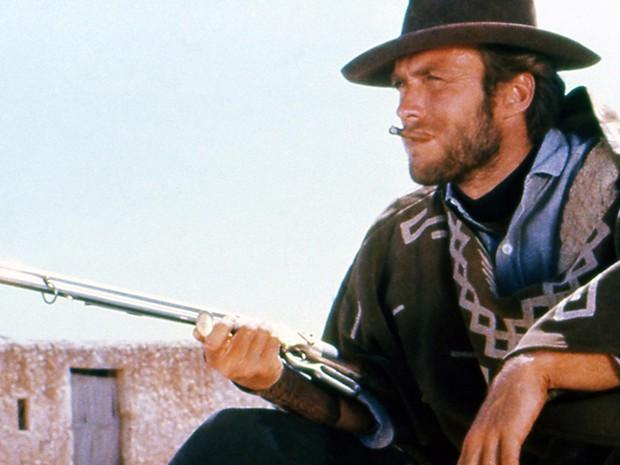 Clint Eastwood no filme Por um punhado de dólares, de Sergio Leone (Foto: Reprodução)
