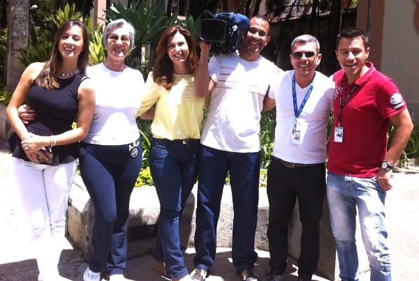 Em São Paulo, equipe foi atrás das novidades sobre a vitamina D (Foto: Divulgação/RBS TV)