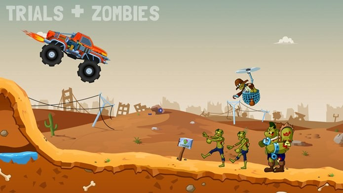 Fuja ou atropele zumbis neste divertido game para iPhone e iPad (Foto: Divulgação)