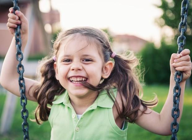 Criança brincando de balanço no parquinho (Foto: Shutterstock)