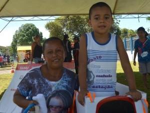 Famínia na 23ª Ação Global (Foto: Jorge Abreu/Rede Amazônica)