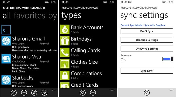 mSecure reúne senhas do usuário em um só lugar e com total segurança (Foto: Divulgação/Windows Phone Store)