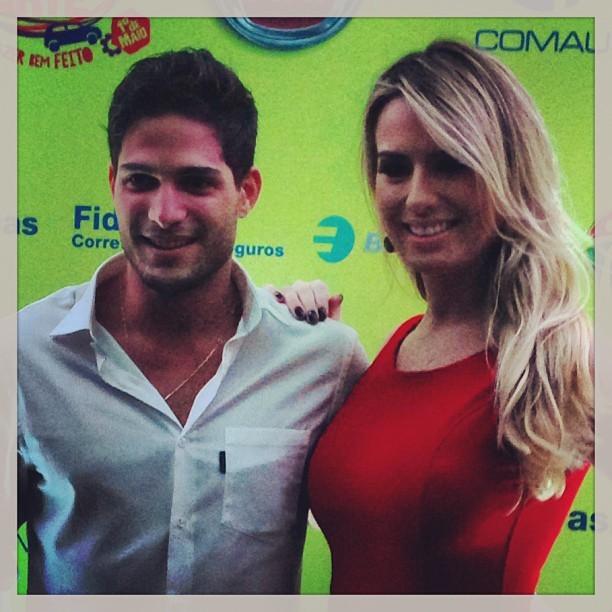 Ex-BBBs André e Fernanda em evento em Belo Horizonte (Foto: Instagram/ Reprodução)