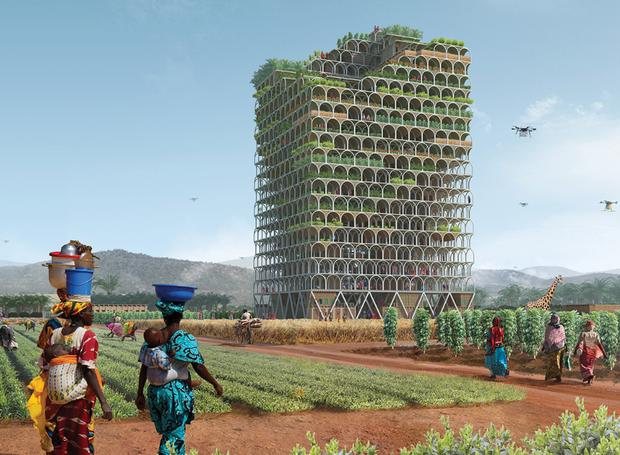 predio-fazenda-pode-ajudar-combater-a-fome-africa-2 (Foto: Reprodução/Mashambas Skyscraper)