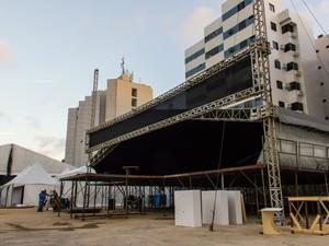 Réveillon privado está na fase final de preparação (Foto: Jonathan Lins/G1)