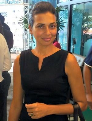 Giselly de Marchi, diretora executiva do Espírito Santo FC  (Foto: Eduardo Dias)