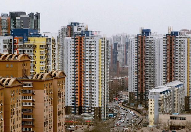 Prédios em Pequim na China (Foto: Reprodução/Twitter)