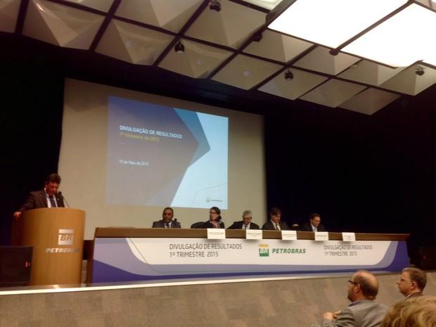 Executivos da Petrobras apresentam resultados (Foto: Cristiane Caoli/G1)