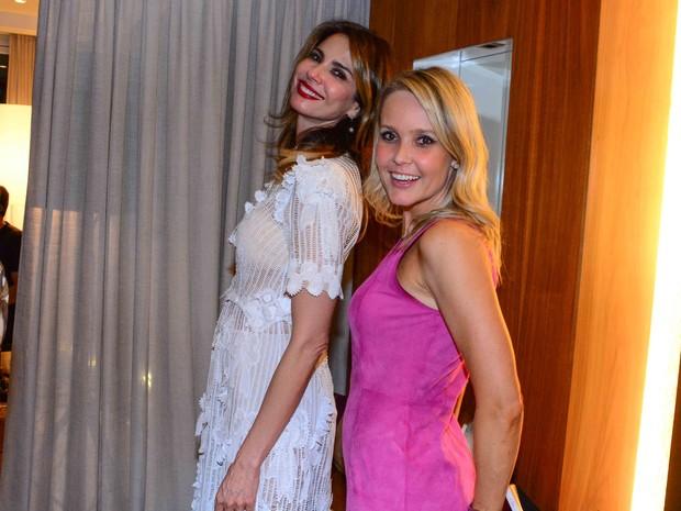 Luciana Gimenez e Camila Klein em festa em São Paulo (Foto: Leo Franco/ Ag. News)