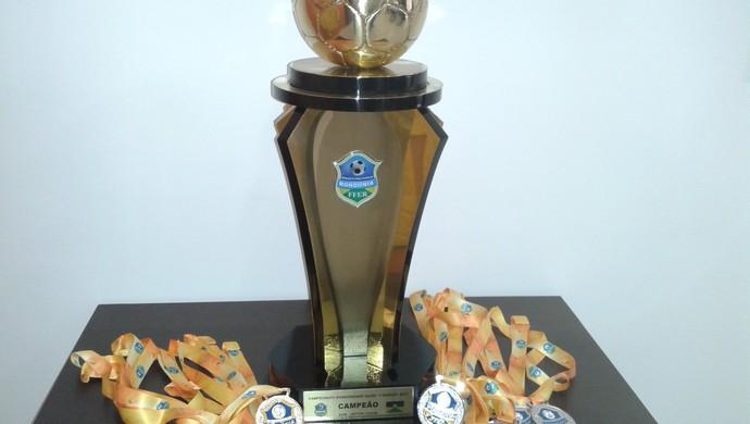 FFER apresenta troféu e medalhas do Rondoniense 2015 (Foto: FFER/ Divulgação)