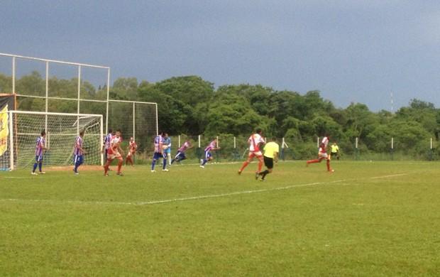 Juventude vence o Araguaína em Dianópolis na primeira rodada do mata-mata da Segundona (Foto: Vilma Nascimento/GLOBOESPORTE.COM)