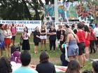 Mulheres fazem manifestação pelo fim da cultura do estupro, em Goiânia