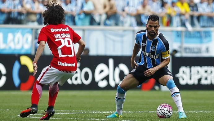 Maicon Valdívia Grêmio Inter Gre-Nal (Foto: Lucas Uebel/Divulgação Grêmio)