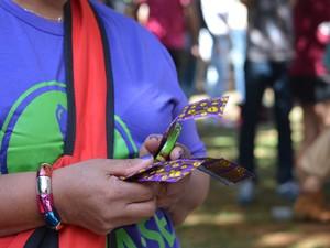 Campanha do Ministério da Saúde na 15ª Parada do Orgulho LGBT em Campinas (Foto: Marina Ortiz/ G1)