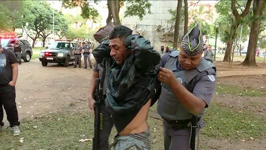 Tropa de Choque faz nova operação em busca de armas na região da Cracolândia