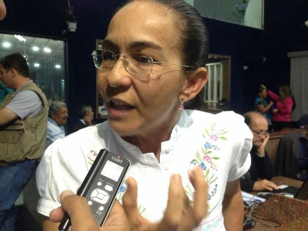 Vereadora Heloísa Helena (PSOL) (Foto: Natália Souza/G1)
