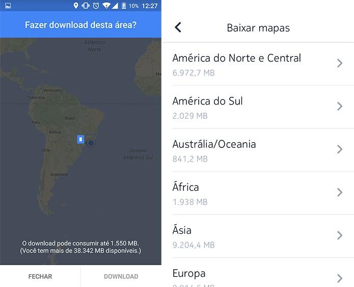 Google Maps possui área bem limitada, enquanto Here aceita mapas maiores (Foto: Reprodução/Elson de Souza)